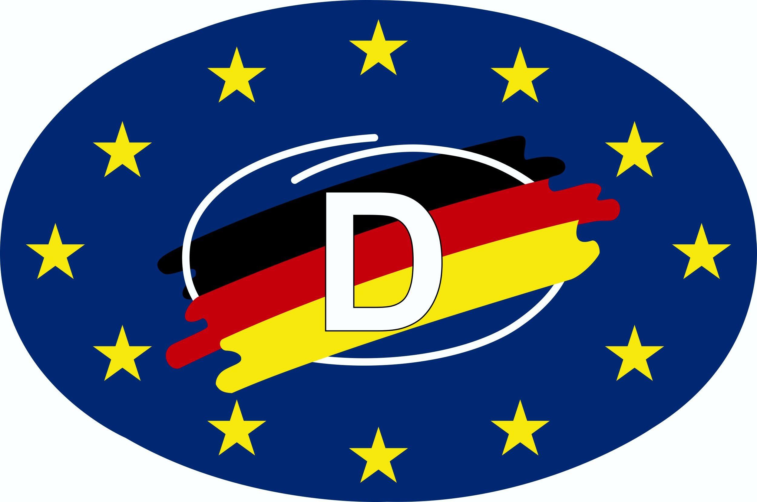 Aufkleber Deutschland Holografie mit Magnetfolie 85 x 125 mm Deutschland Fanartikel EM – Bild 1