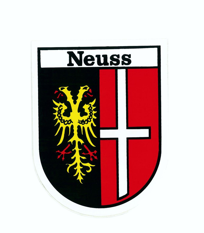 Aufkleber Wappen Neuss 115 x 90 mm – Bild 1