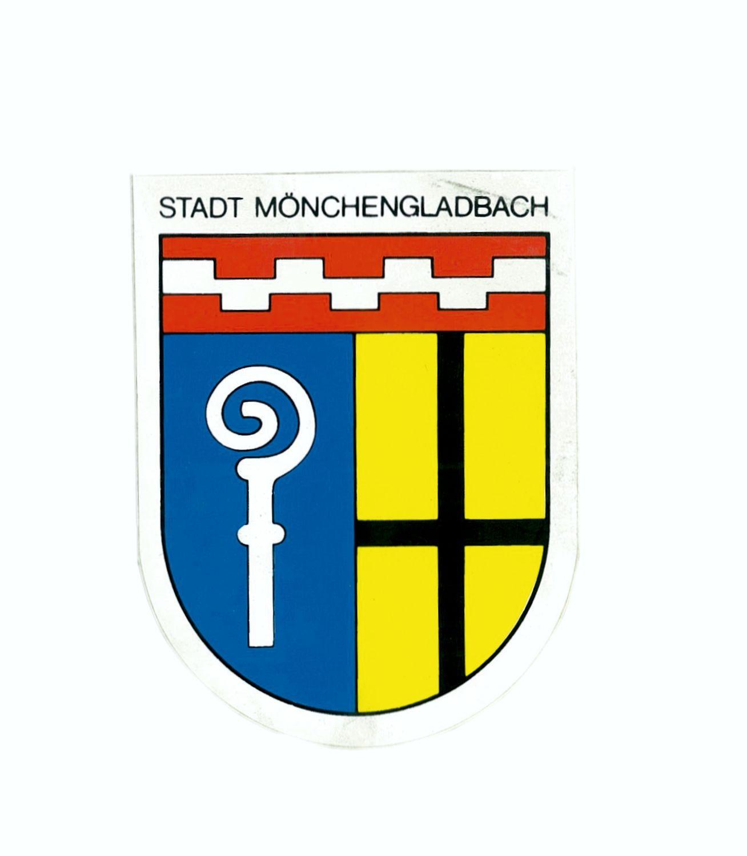 Aufkleber Wappen Stadt Mönchengladbach 115 x 90 mm – Bild 1
