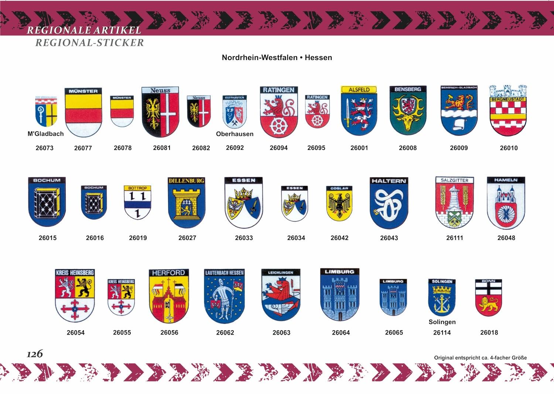 Aufkleber Wappen Limburg 60 x 45 mm – Bild 4