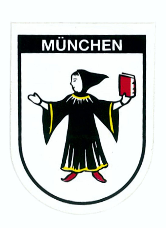 Aufkleber Wappen München 60 x 45 mm – Bild 1