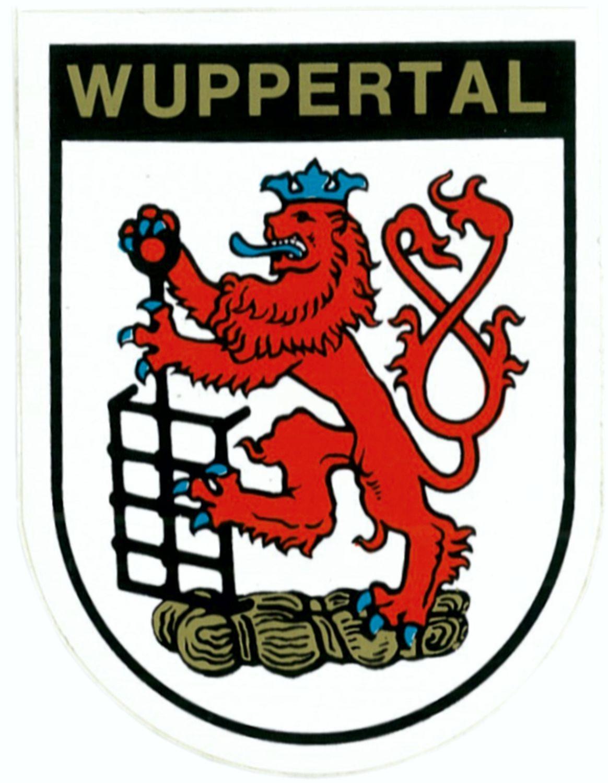 Aufkleber Wappen Wuppertal 115 x 90 mm