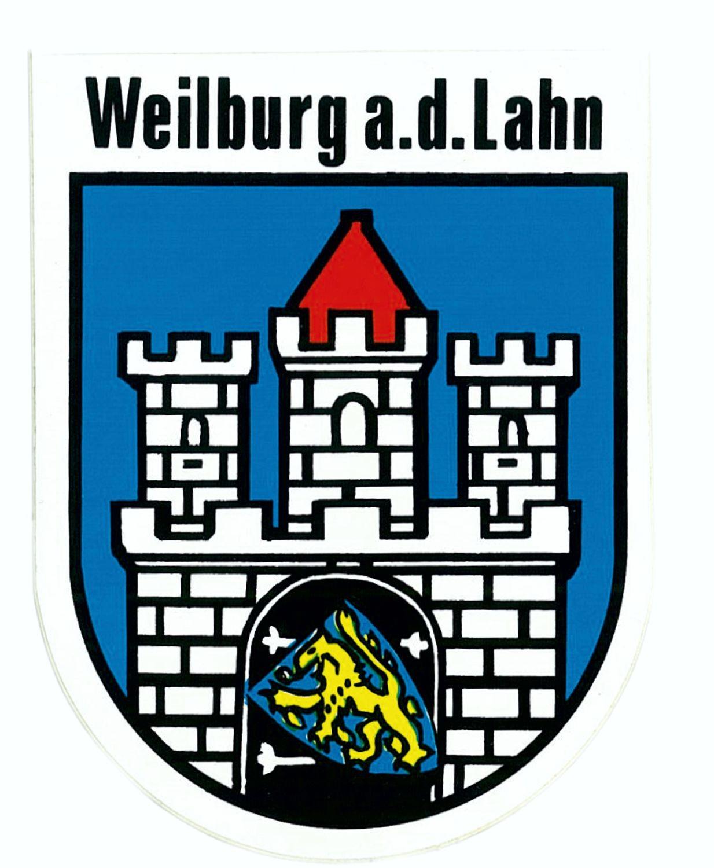Aufkleber Wappen Weilburg a. d. Lahn 115 x 90 mm – Bild 1