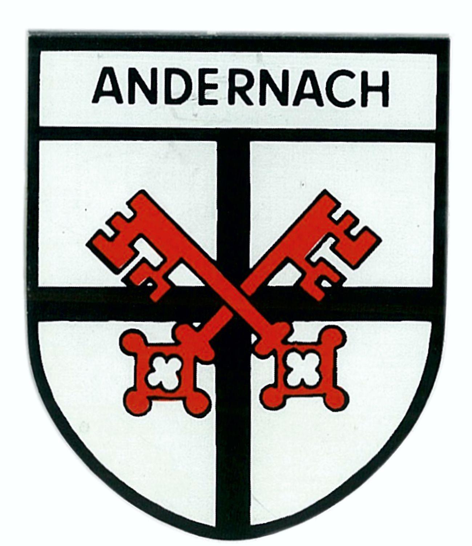 Aufkleber Wappen Andernach 75 x 60 mm – Bild 1