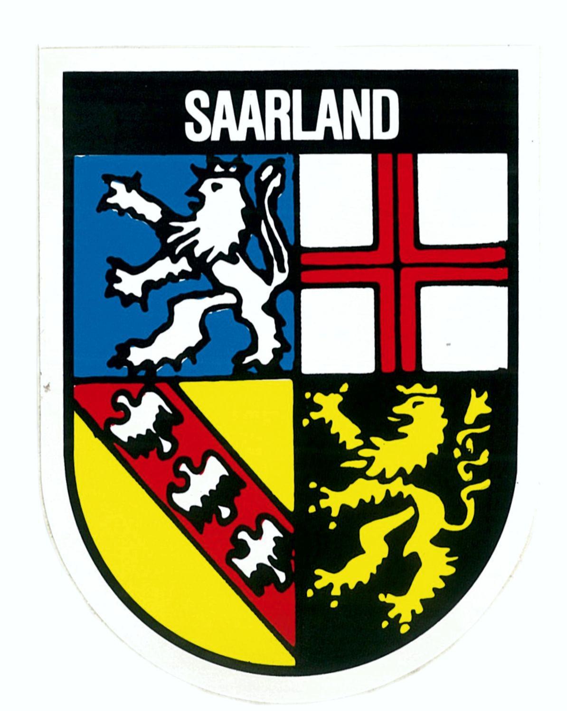 Aufkleber Wappen Saarland 115 x 90 mm – Bild 1