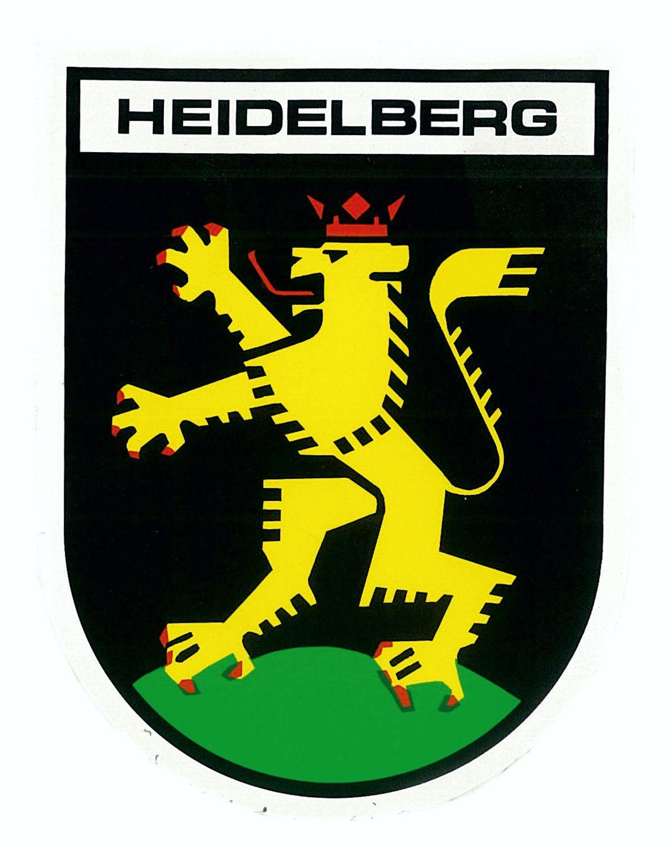 Aufkleber Wappen Heidelberg 60 x 45 mm – Bild 1