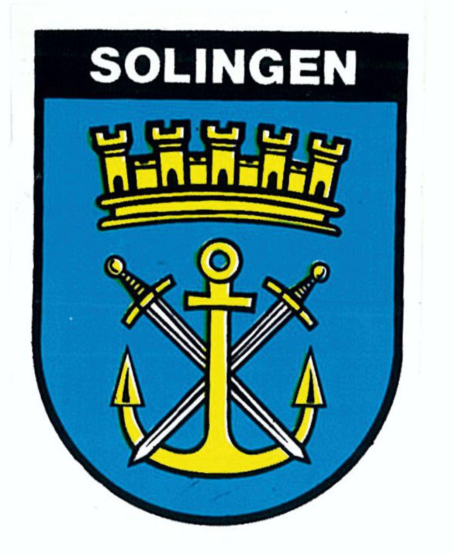 Aufkleber Wappen Solingen 60 x 45 mm – Bild 1
