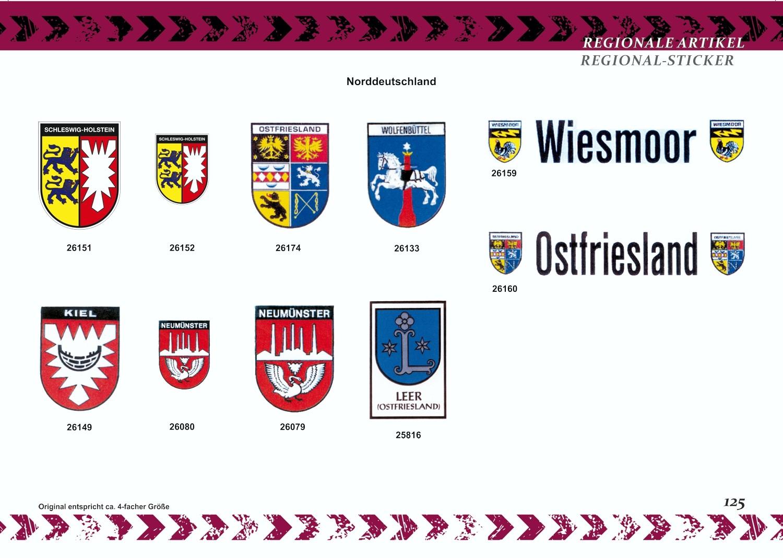 Aufkleber Wappen Franken 80 x 60 mm – Bild 3