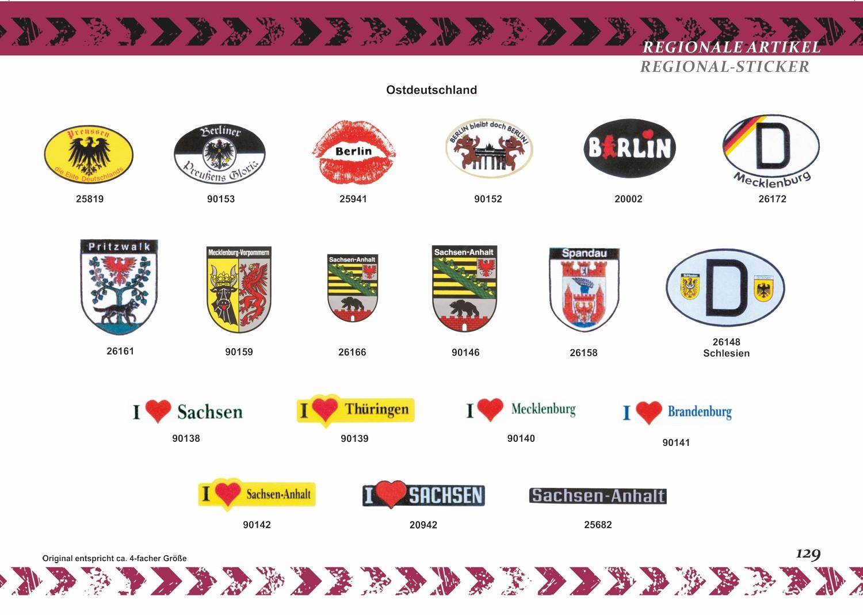 Sticker crest Franken 80 x 60  mm – Bild 7