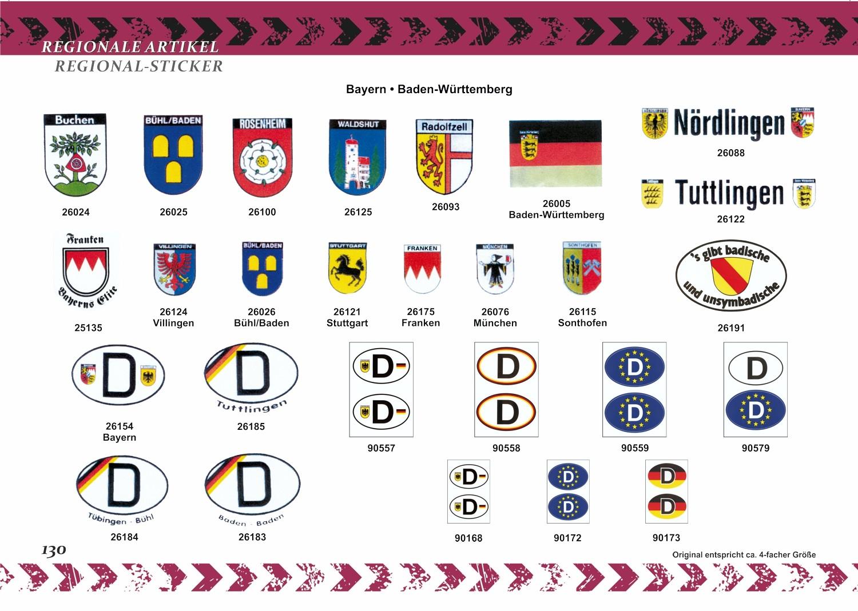 Aufkleber Wappen Franken 80 x 60 mm – Bild 8
