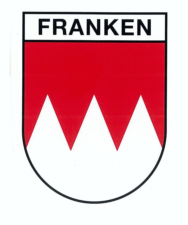 Aufkleber Wappen Franken 80 x 60 mm