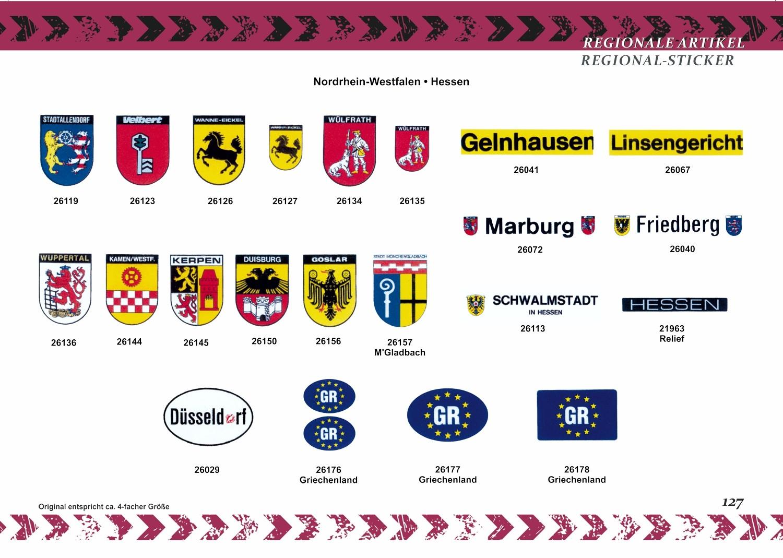 Aufkleber D mit Wappen Bayern und Deutschland 110 x 165 mm – Bild 5