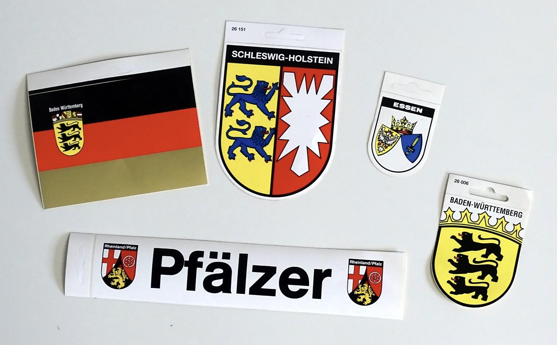 Aufkleber D mit Wappen Bayern und Deutschland 110 x 165 mm – Bild 2