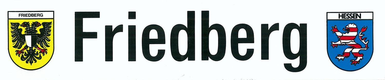 Aufkleber Friedberg - Schriftzug mit Wappen Friedberg und Hessen 50 x 225 mm – Bild 1