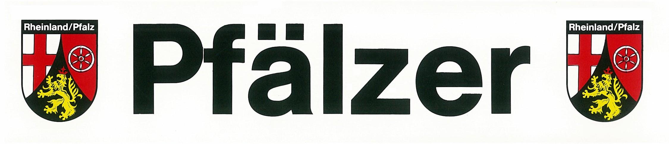 Sticker Pfälzer - writing with crests Rheinland/Pfalz 50 x 230 mm