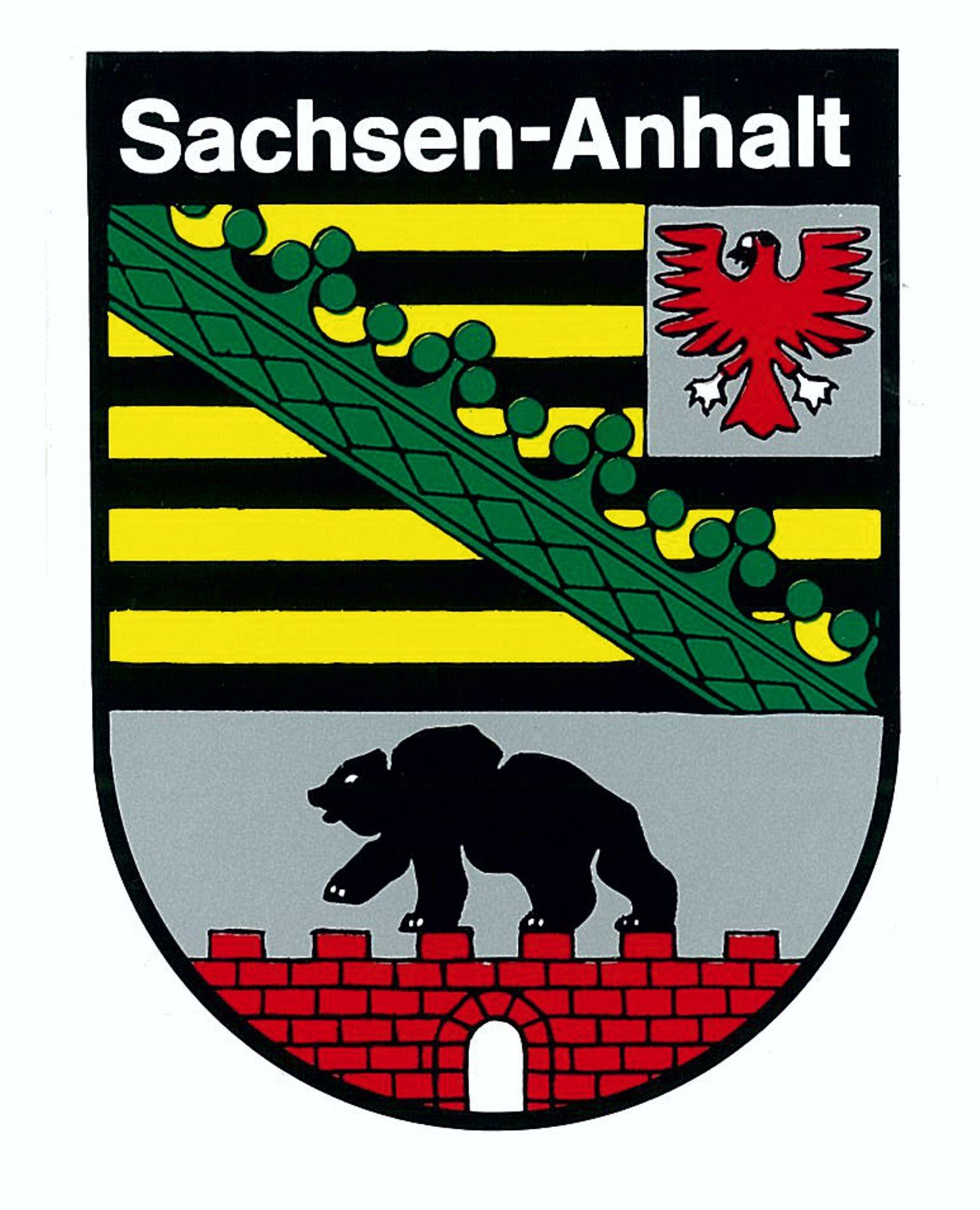 Aufkleber Wappen Sachsen-Anhalt 80 x 60 mm – Bild 1