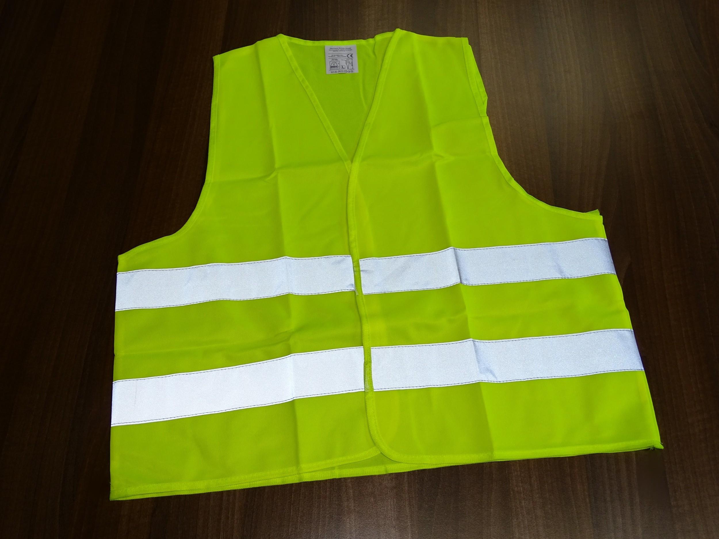Warn- und Sicherheitsweste gelb 4er-Set – Bild 3