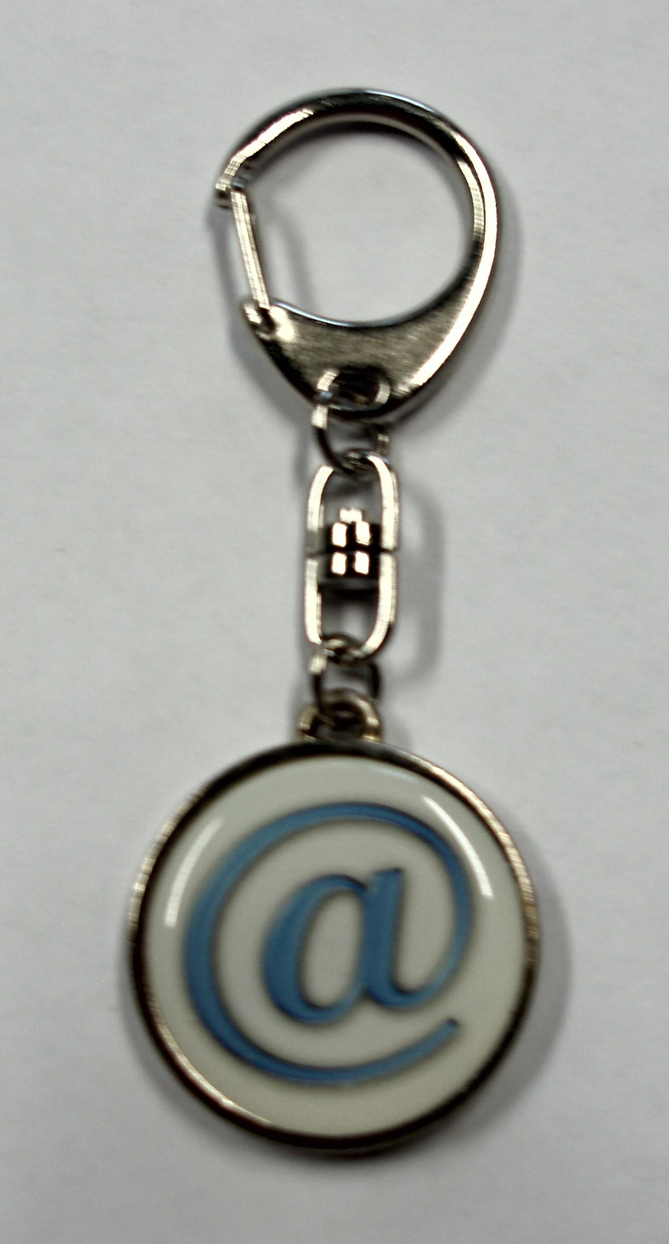 Porte-clé métal @-logo 95 x 35 mm motif bilatéral – Bild 1