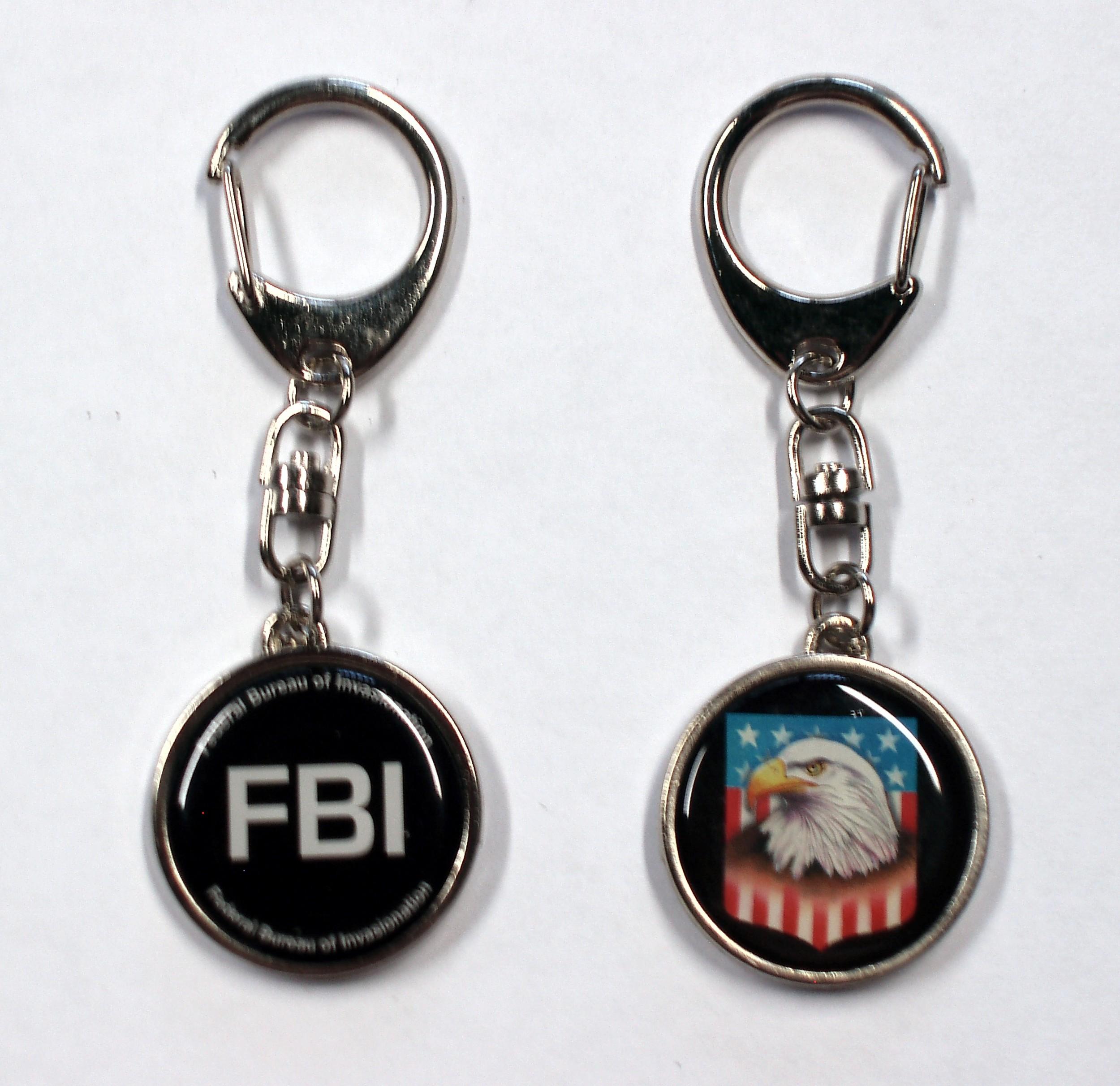 Schlüsselanhänger Metall FBI/Adler 95 x 35 mm je 1 Motiv pro Seite – Bild 1