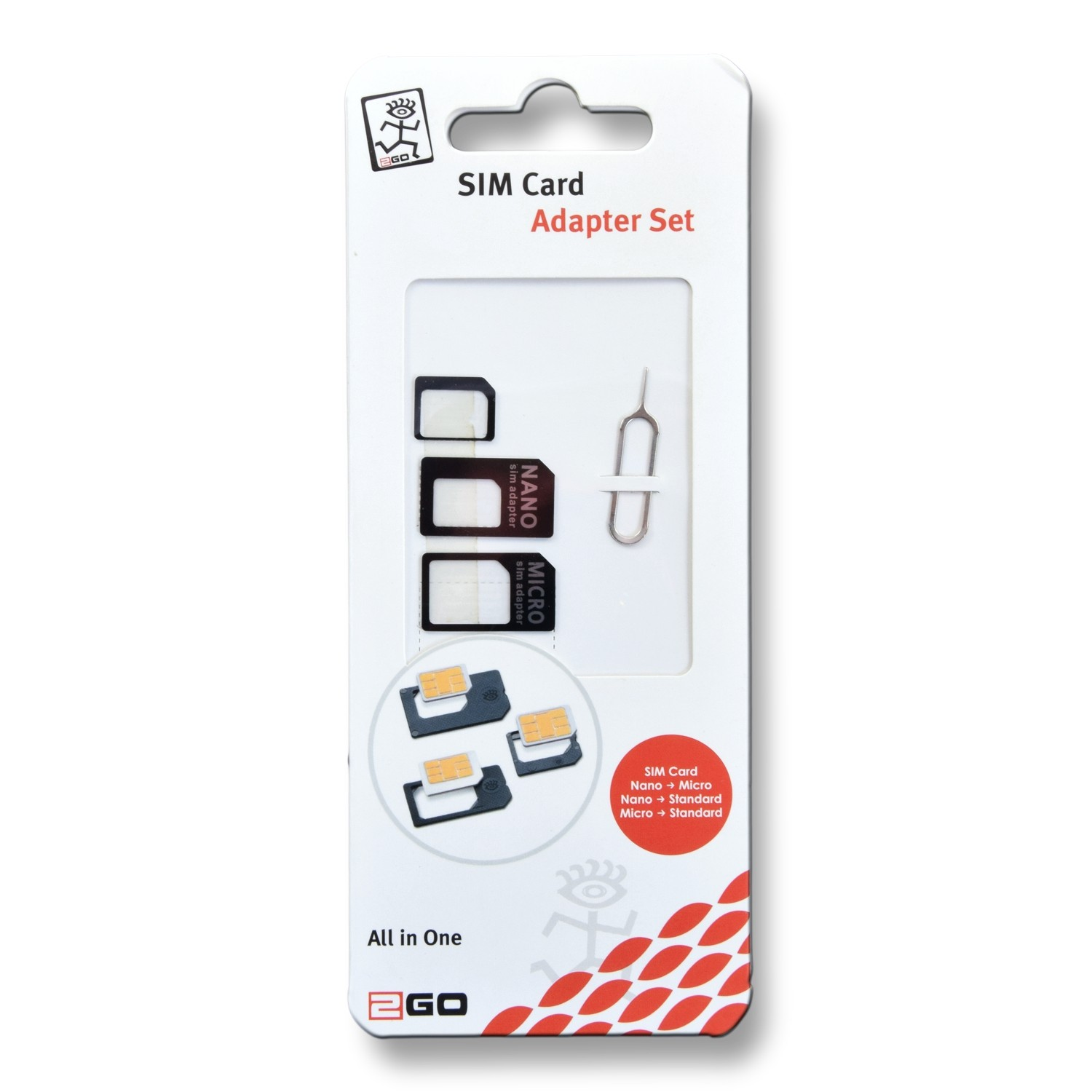 2GO SIM Card Adapter Set – Bild 2