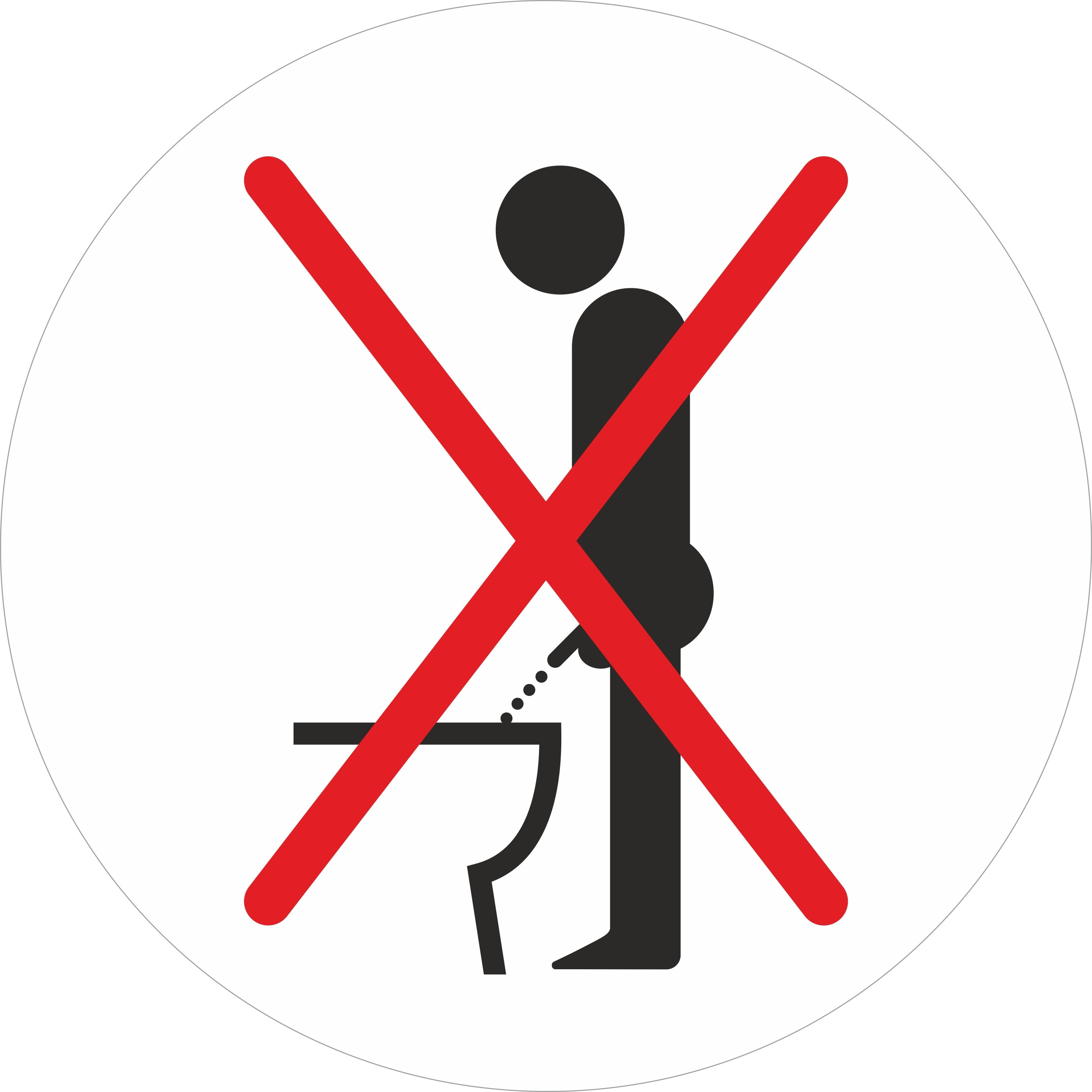 Sticker Don't pee while standing please Ø 80 mm – Bild 1