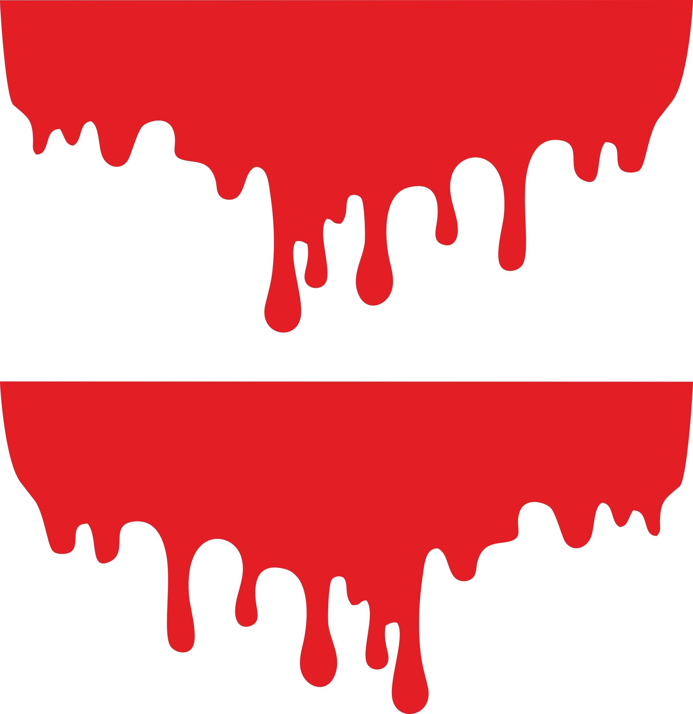 Aufkleber Blutstropfen appliziert 001