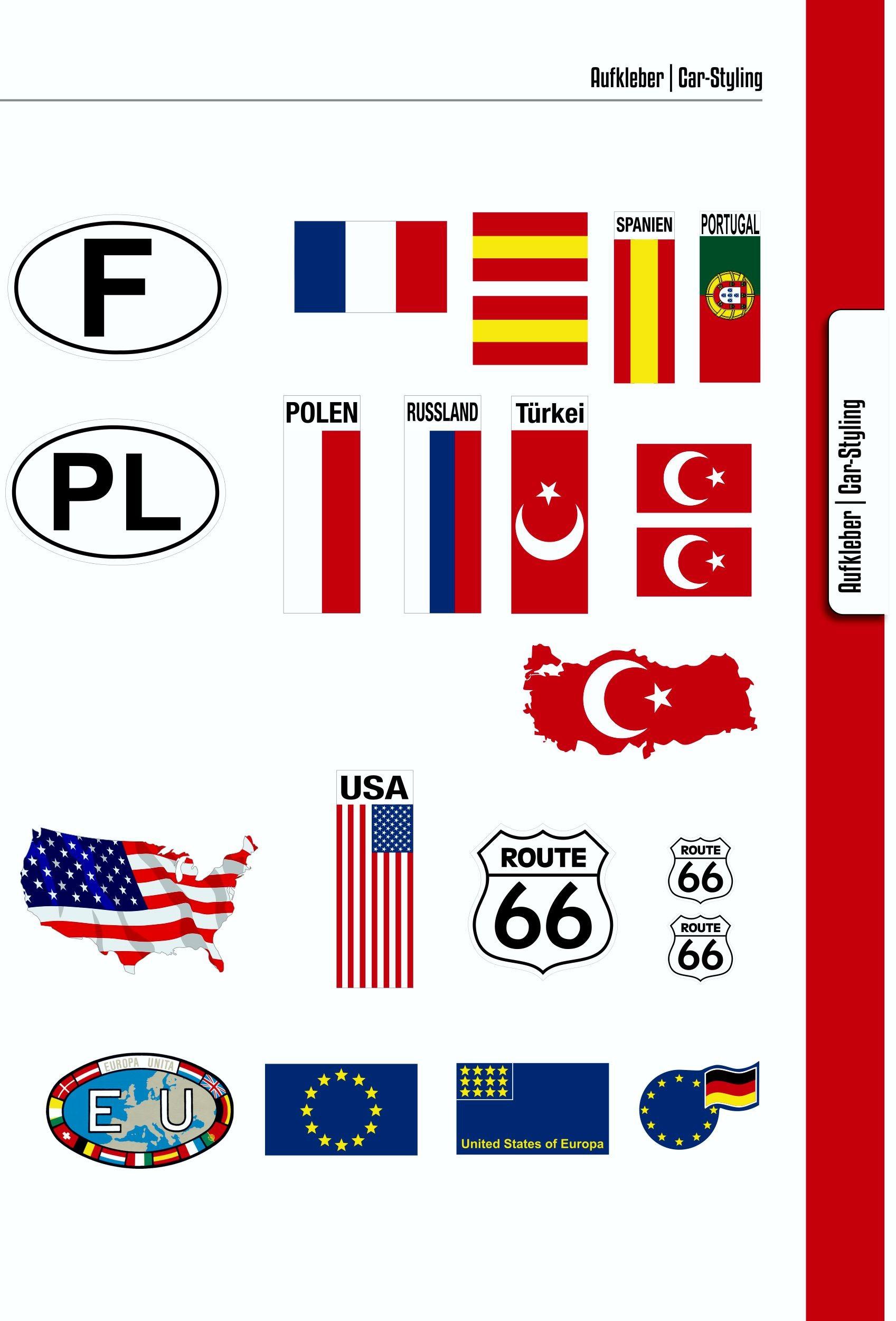 Aufkleber Deutschland Flagge Dimension 15 x 55 mm Deutschland Fanartikel  – Bild 7