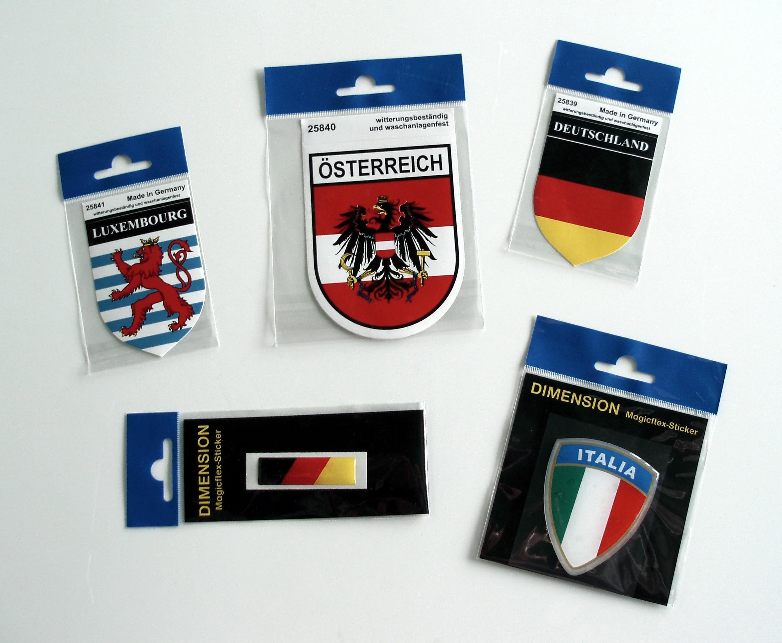 Aufkleber Deutschland Flagge Dimension 15 x 55 mm Deutschland Fanartikel  – Bild 2
