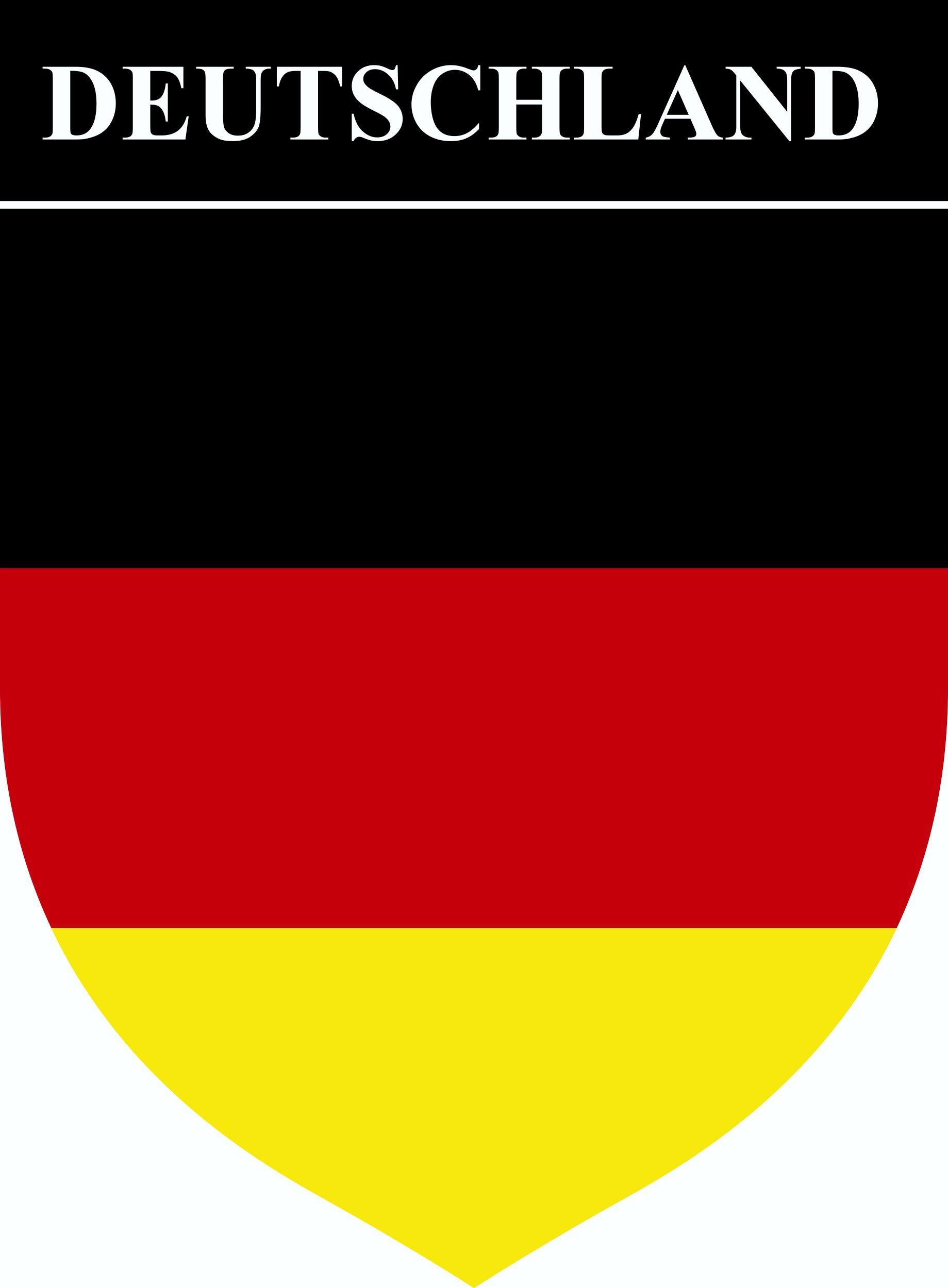 Aufkleber Wappen Deutschland 85 x 65 mm – Bild 1