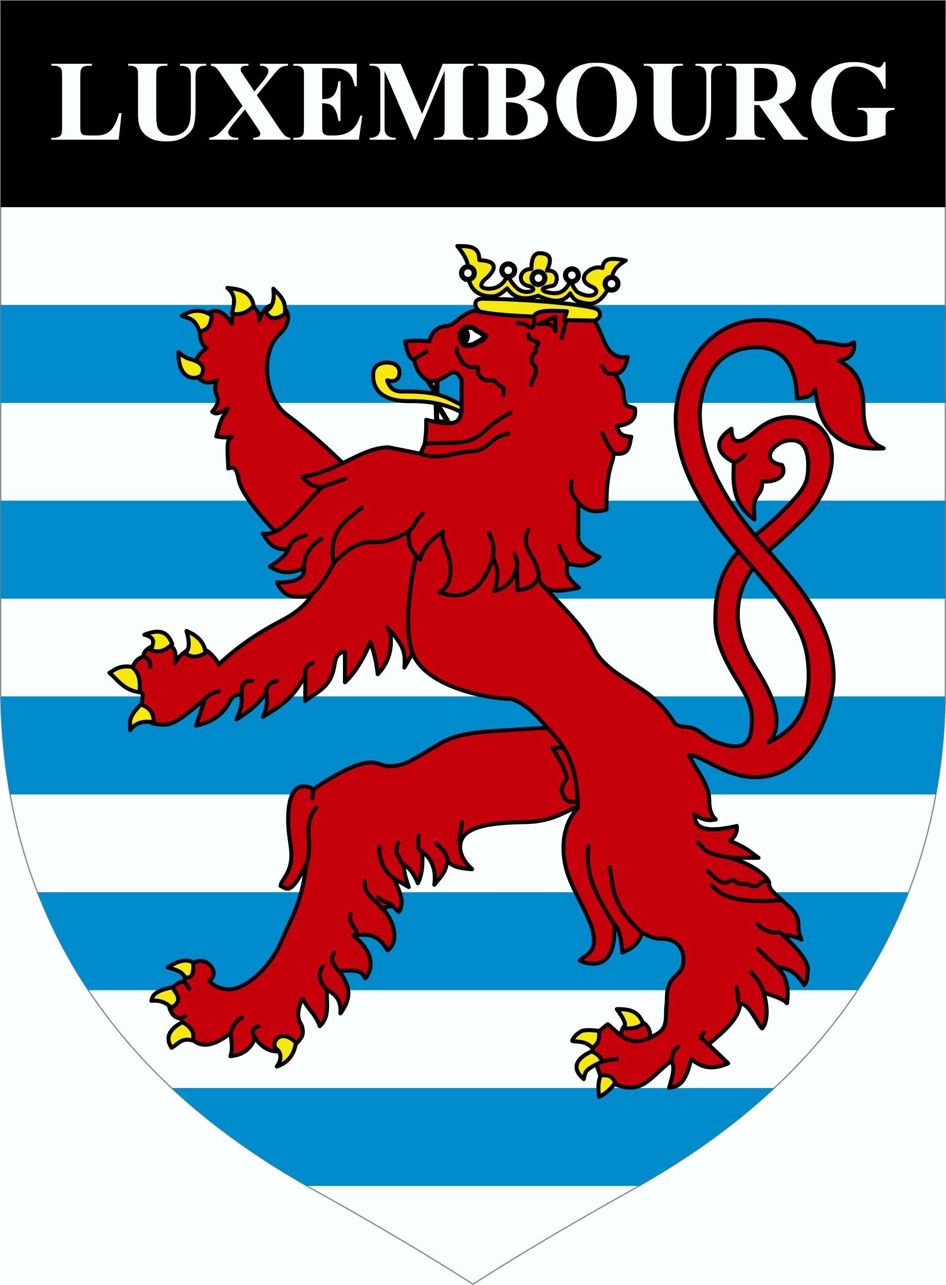 Aufkleber Wappen Luxembourg 85 x 65 mm