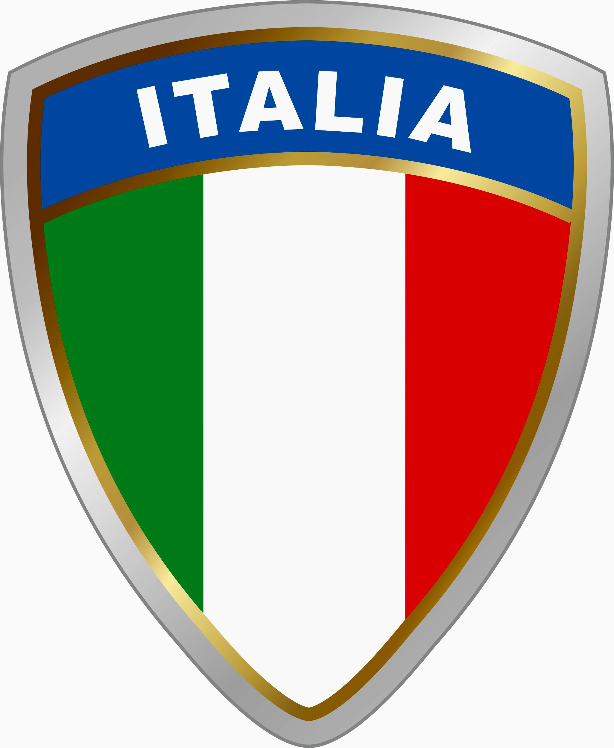 Sticker crest Italia dimension 75 x 60 mm – Bild 1