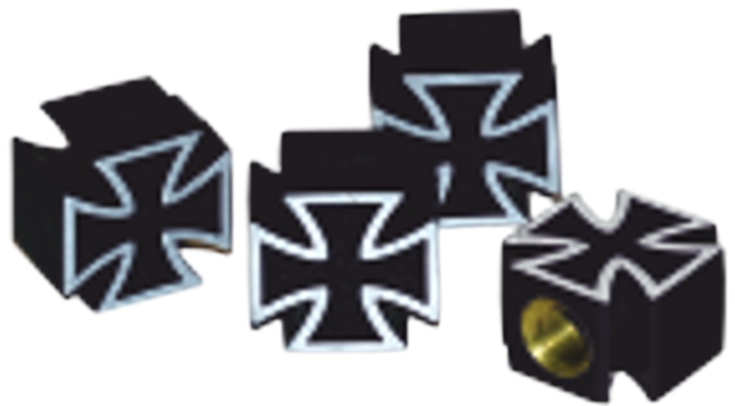 Ventilkappen Vent-Cap Iron Cross 4er-Set – Bild 1