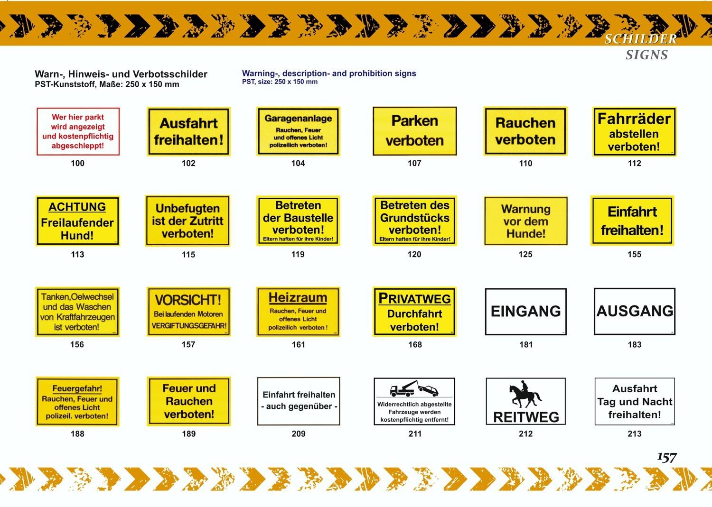 Attention sortie de véhicules 150 x 250 mm Warn- Hinweis- und Verbotsschild PST-Kunststoff – Bild 5