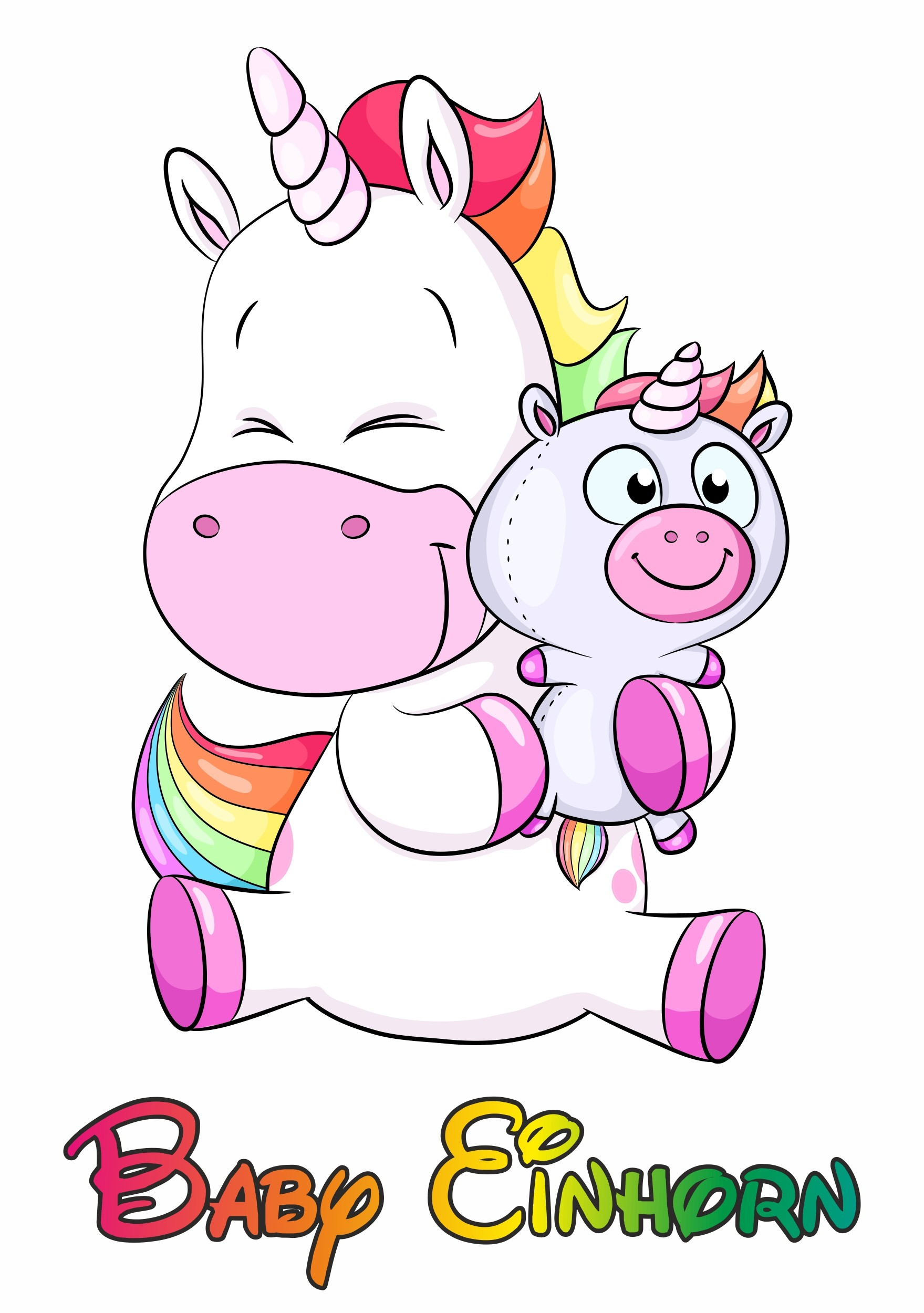 "Sticker Unicorn ""Baby Einhorn"" 150 x 115 mm"
