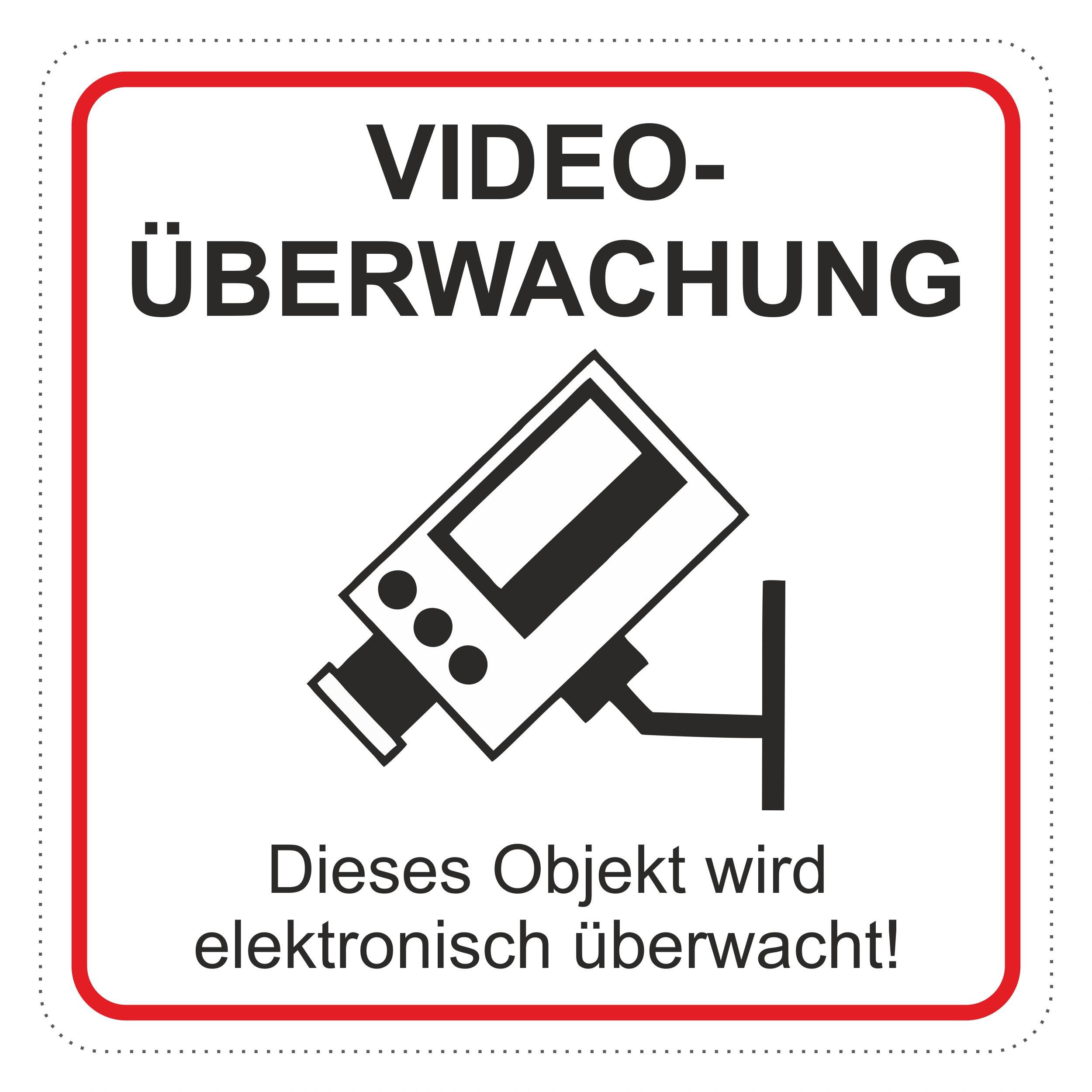 Aufkleber Videoüberwachung ... 65 x 65 mm  – Bild 1
