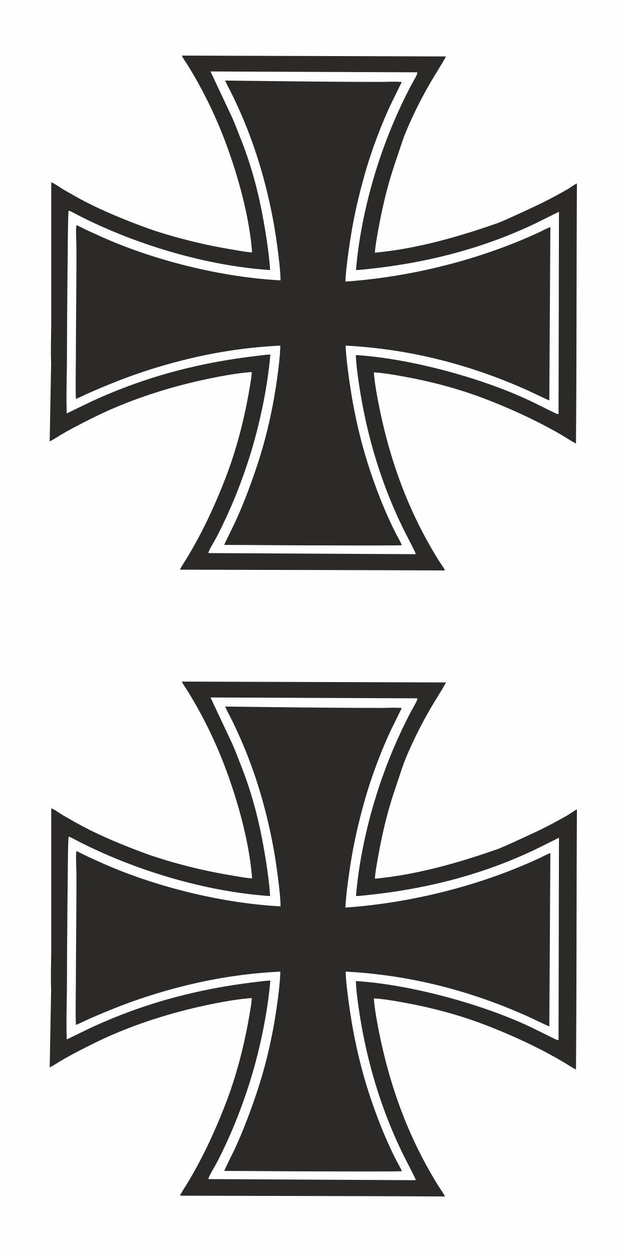 Aufkleber Eisernes Kreuz 60 x 45 mm 2er-Set  – Bild 1