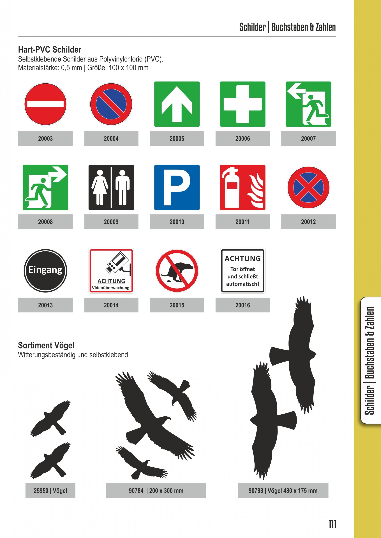 Türschild Behinderten-Symbol  selbstklebend 100 x 100 mm – Bild 4