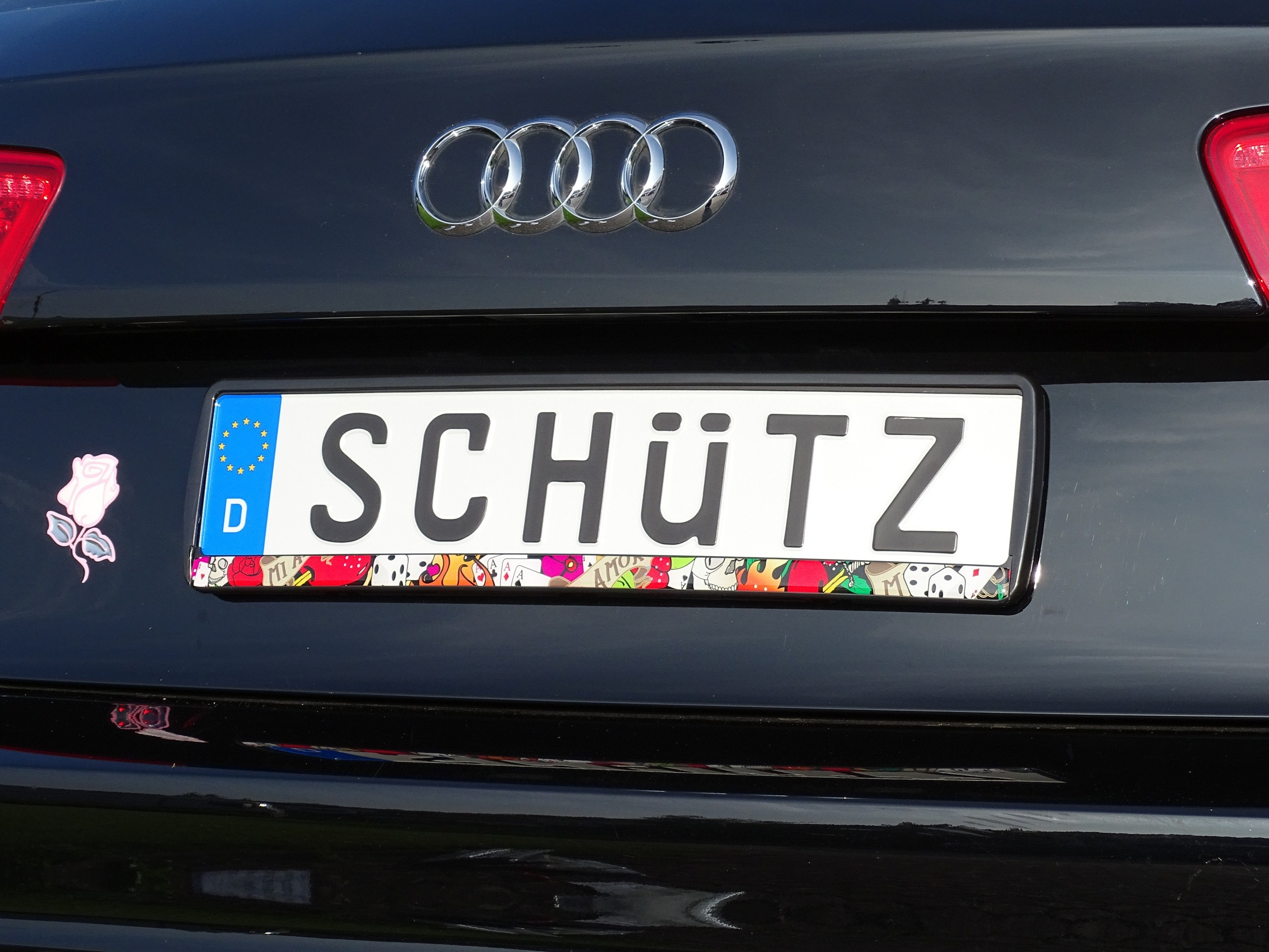 Design number plate frame Old School 2 pieces 10% discout Car ...