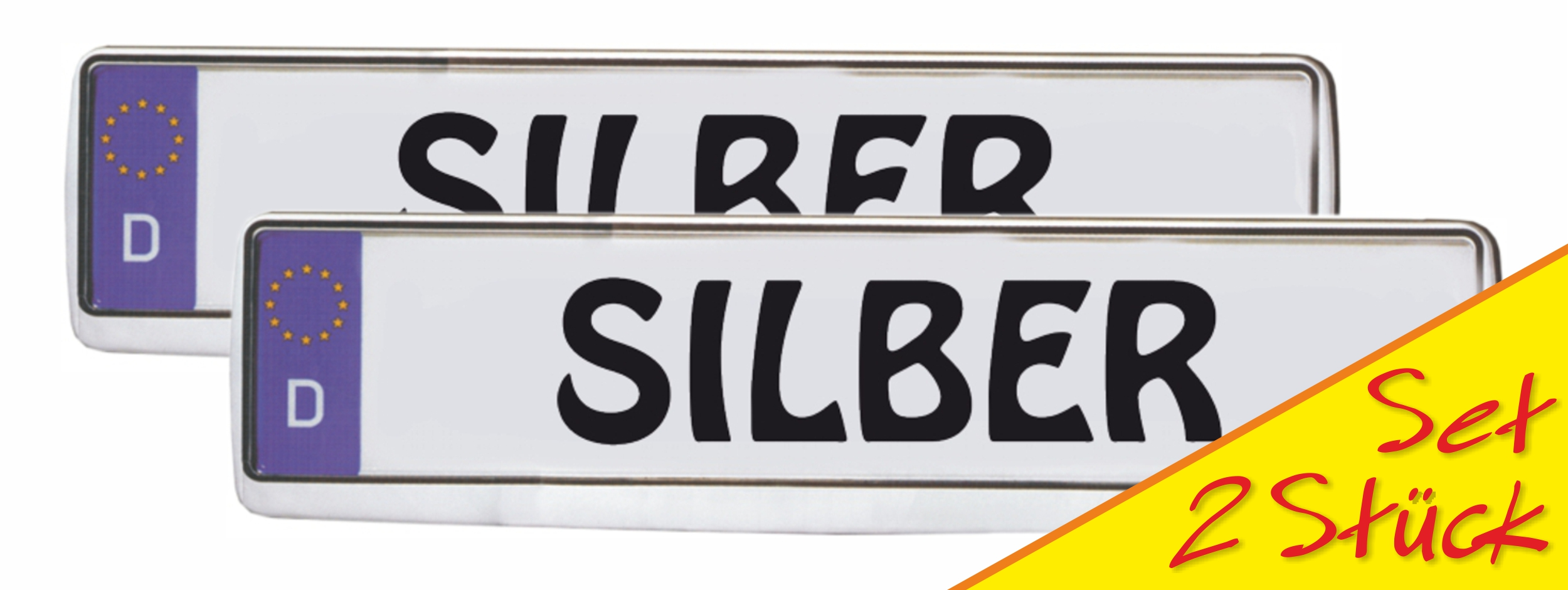 Design number plate frame silver 2 pieces 10% discount – Bild 1