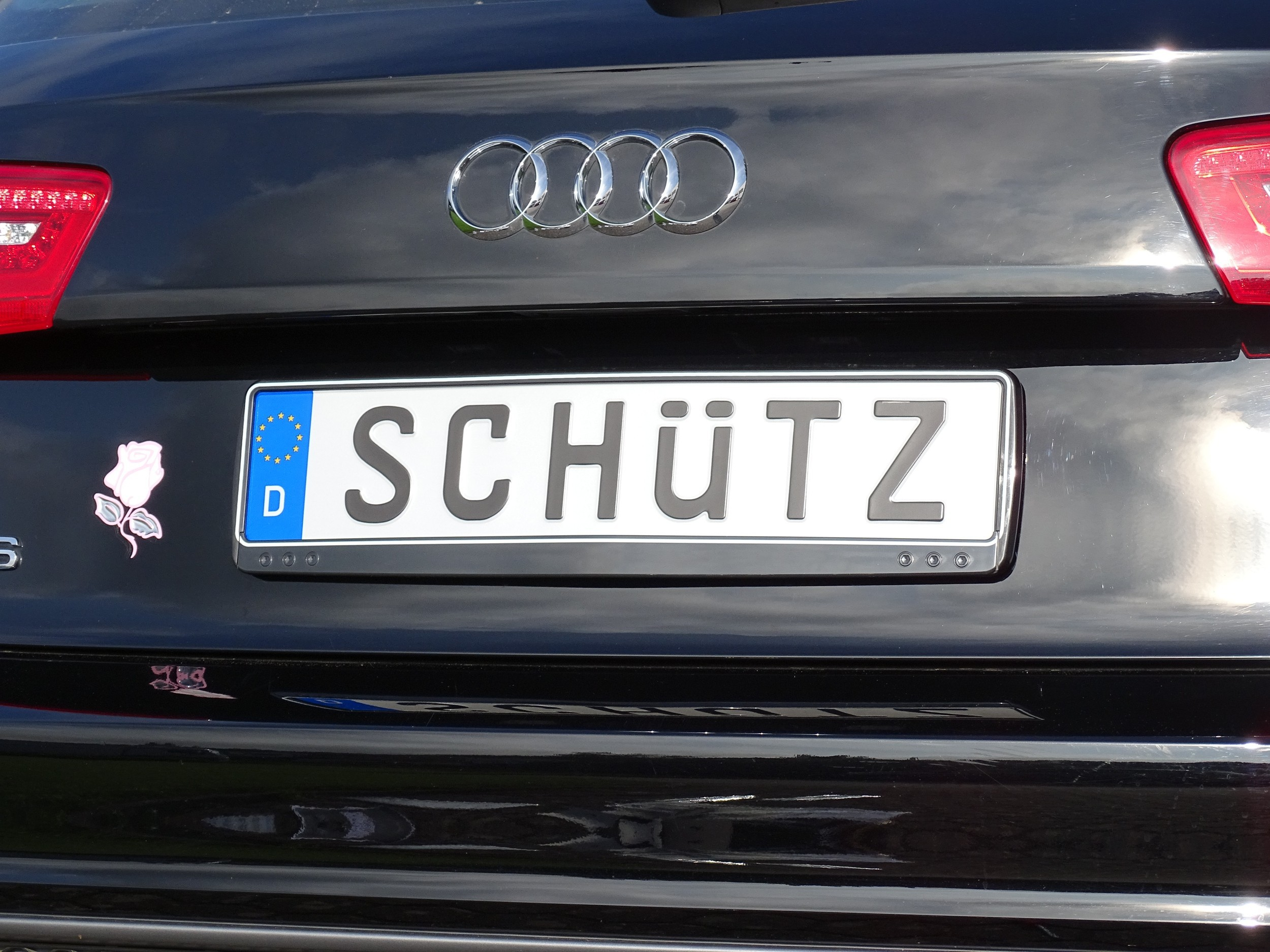 Design number plate frame black 2 pieces 10% discount – Bild 2