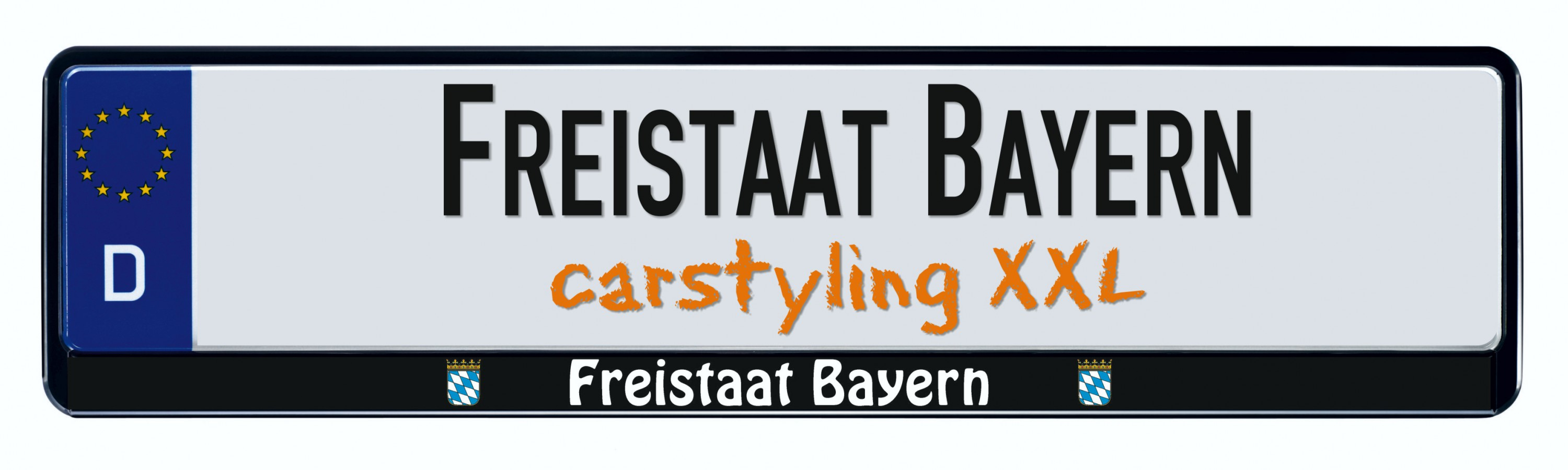 Design number plate frame federal state Freistaat Bayern 2 pieces – Bild 1