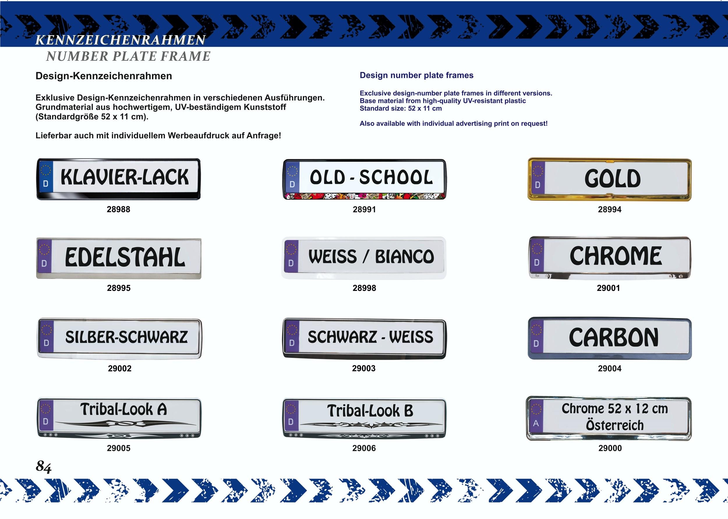 Cadre pour plaque d'immatriculation design état regional Freistaat Thüringen 2 pièces – Bild 3