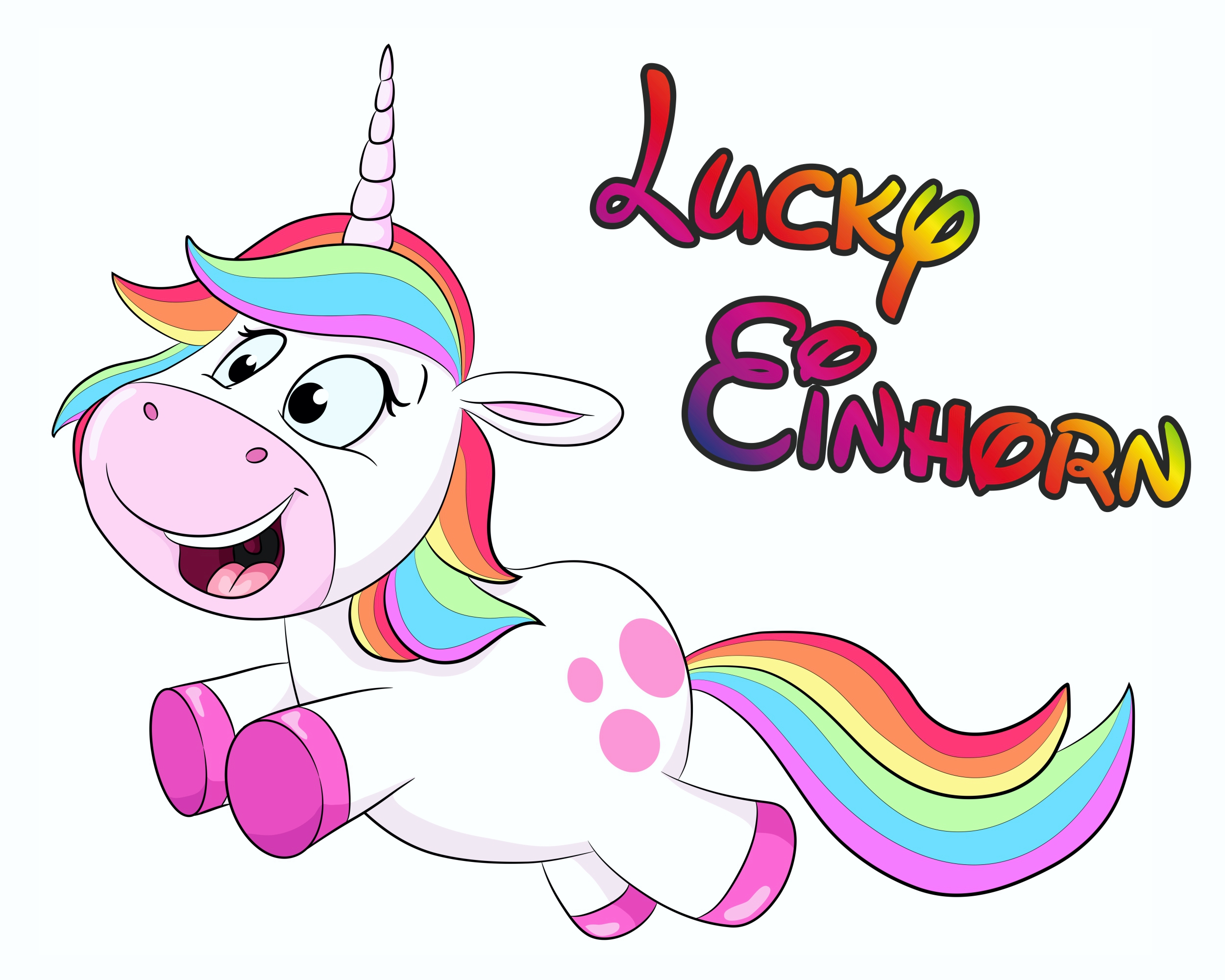 "Sticker Unicorn ""Lucky Einhorn"" 115 x 150 mm 001"