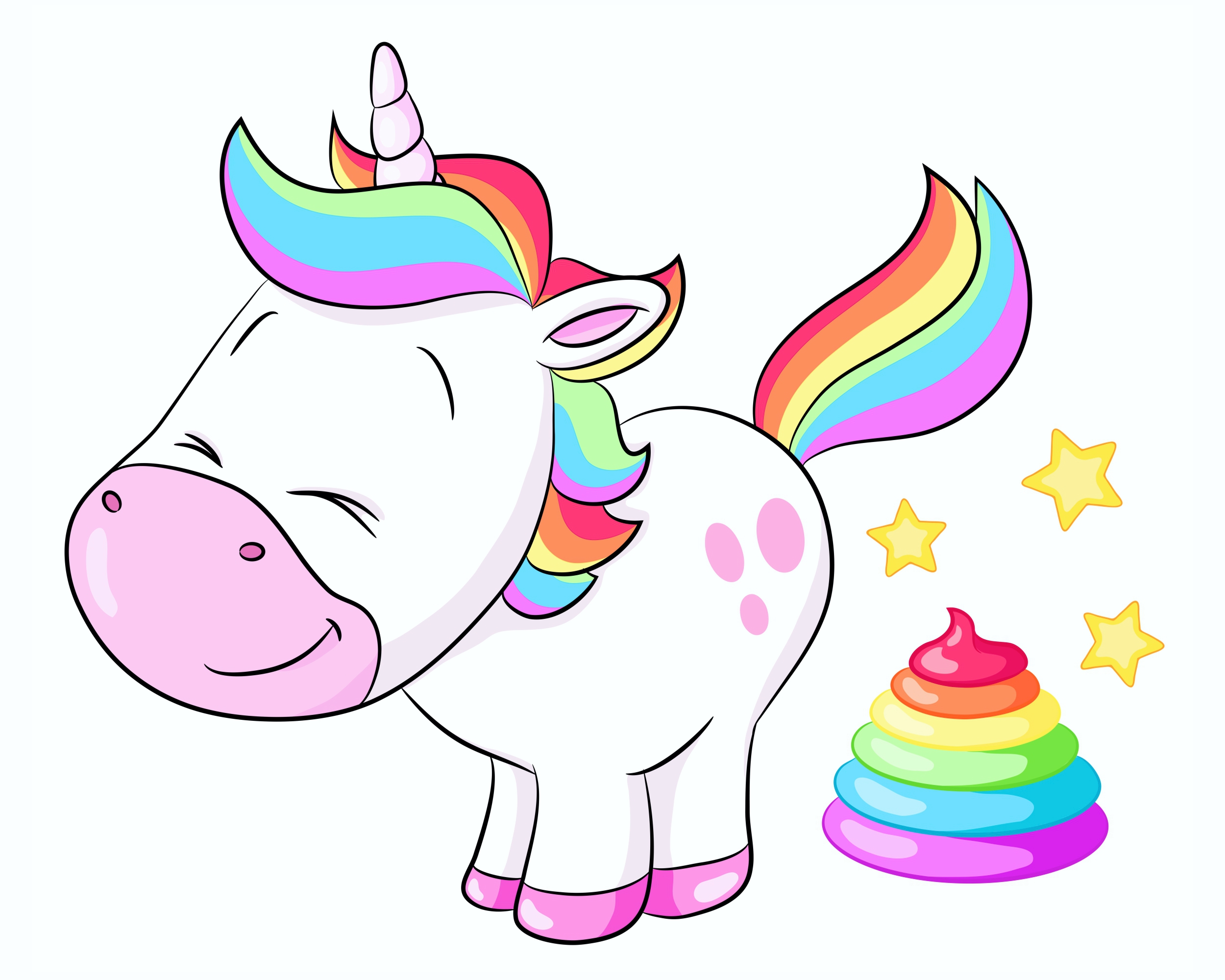 "Sticker Unicorn ""Smily Einhorn"" 150 x 115 mm – Bild 1"