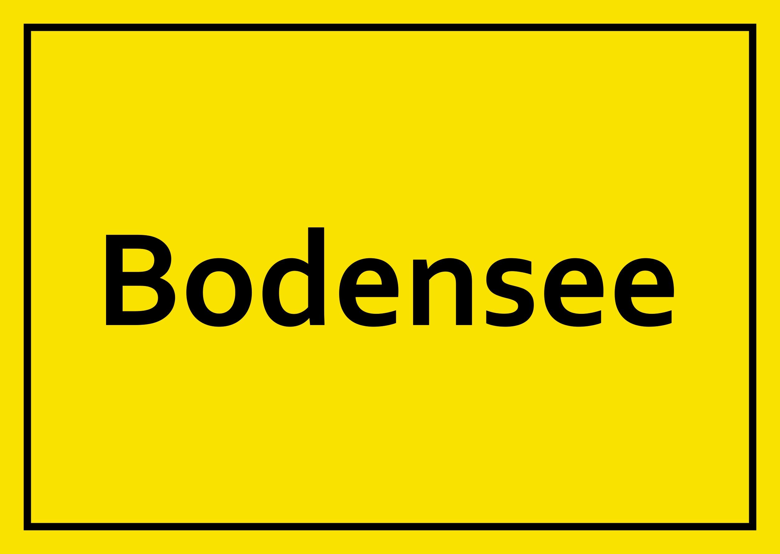 Sticker Bodensee