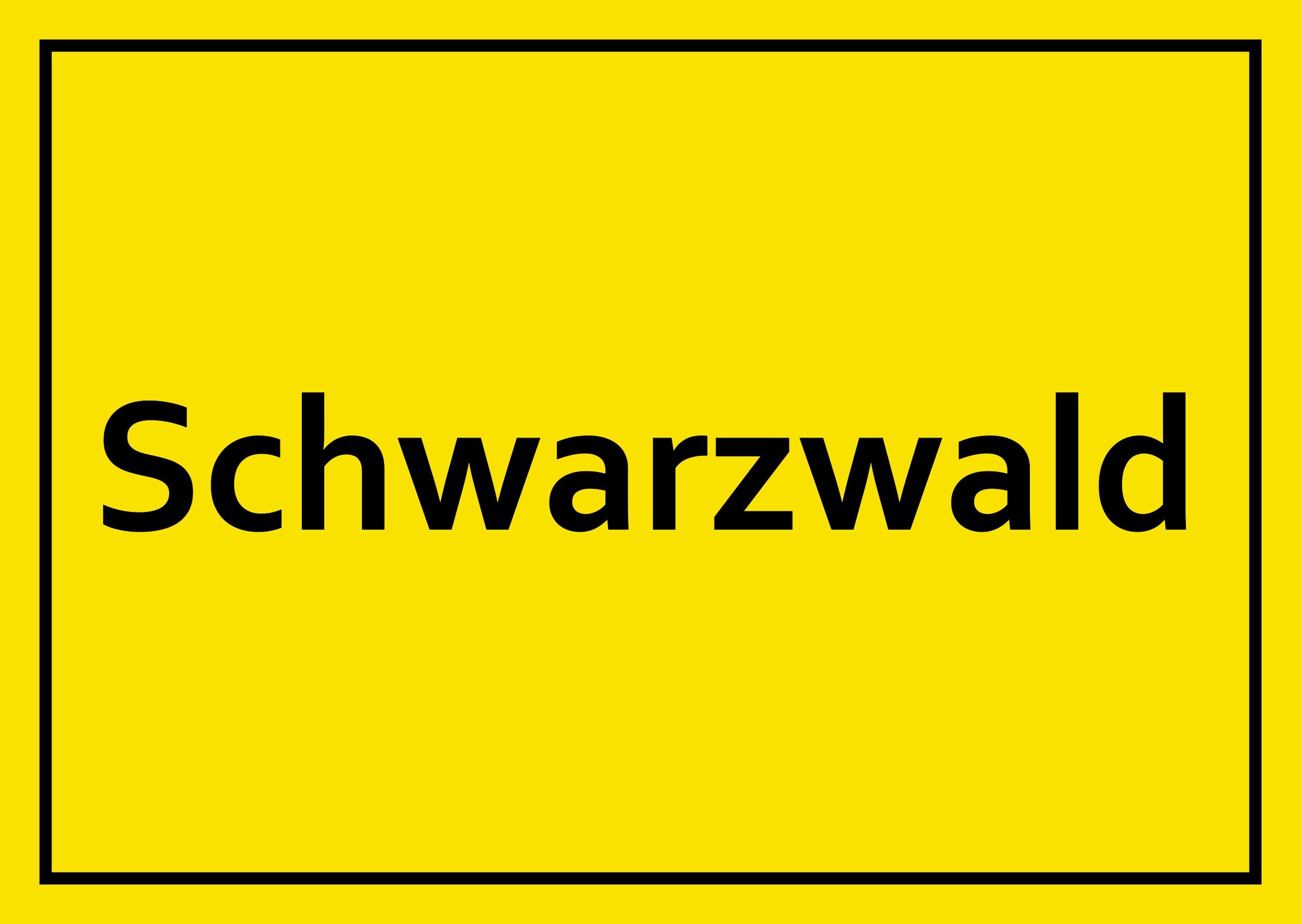 Aufkleber Schwarzwald – Bild 1
