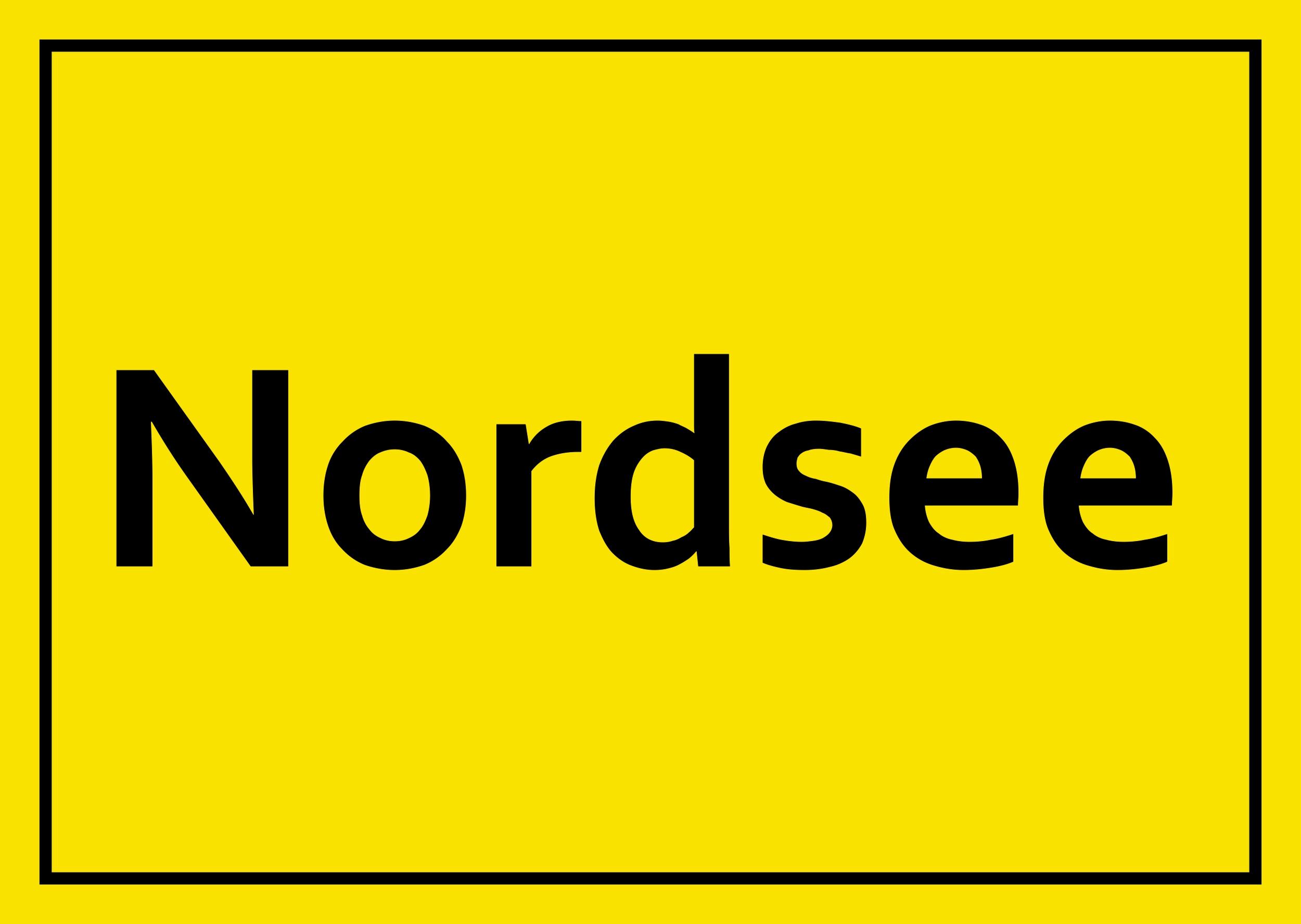 Aufkleber Nordsee – Bild 1
