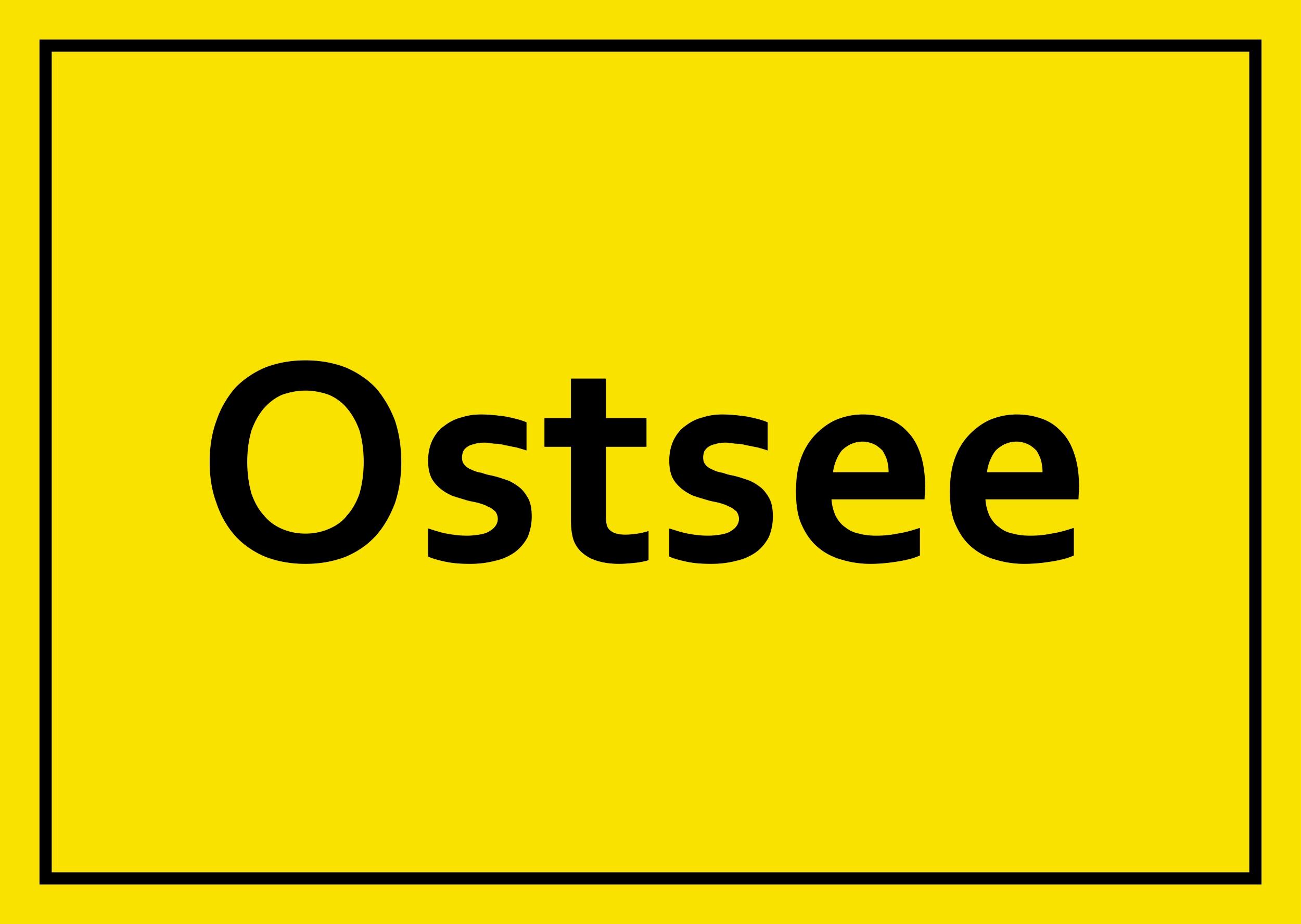 Sticker Ostsee