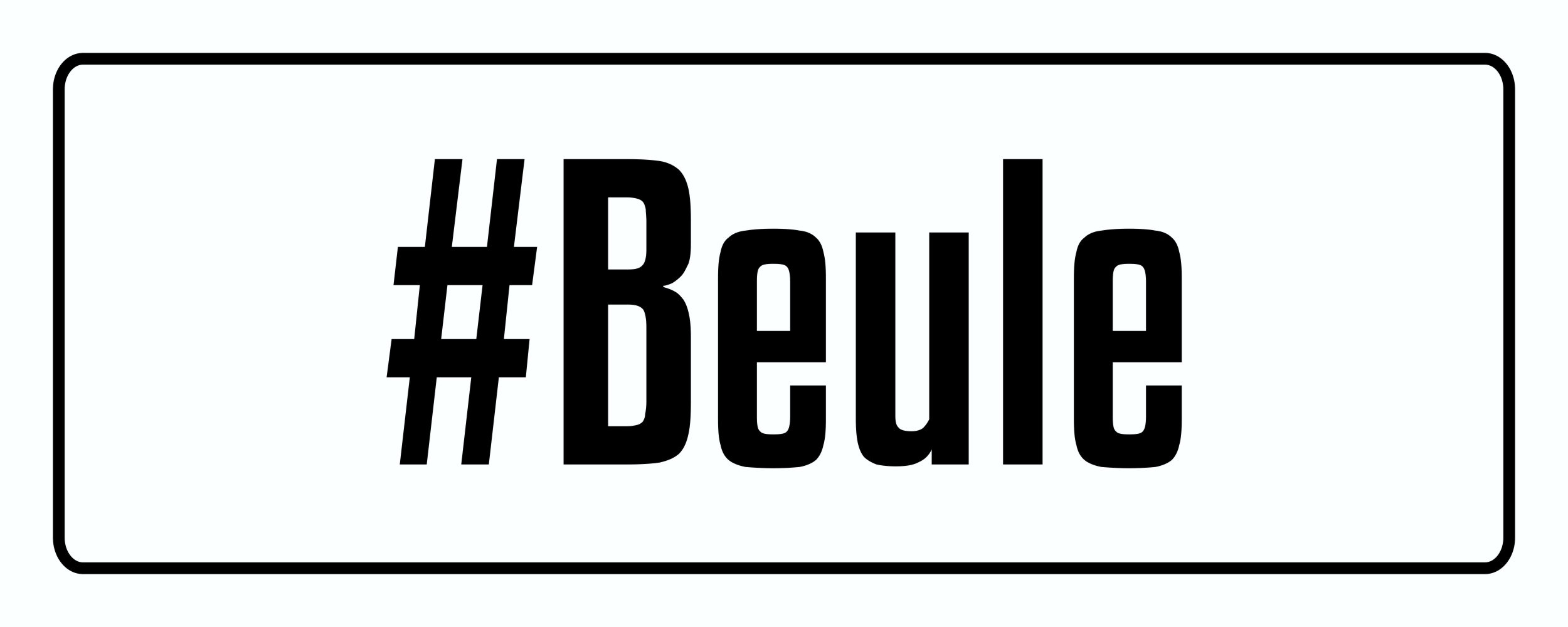 Aufkleber #Beule 40 x 110 mm – Bild 1