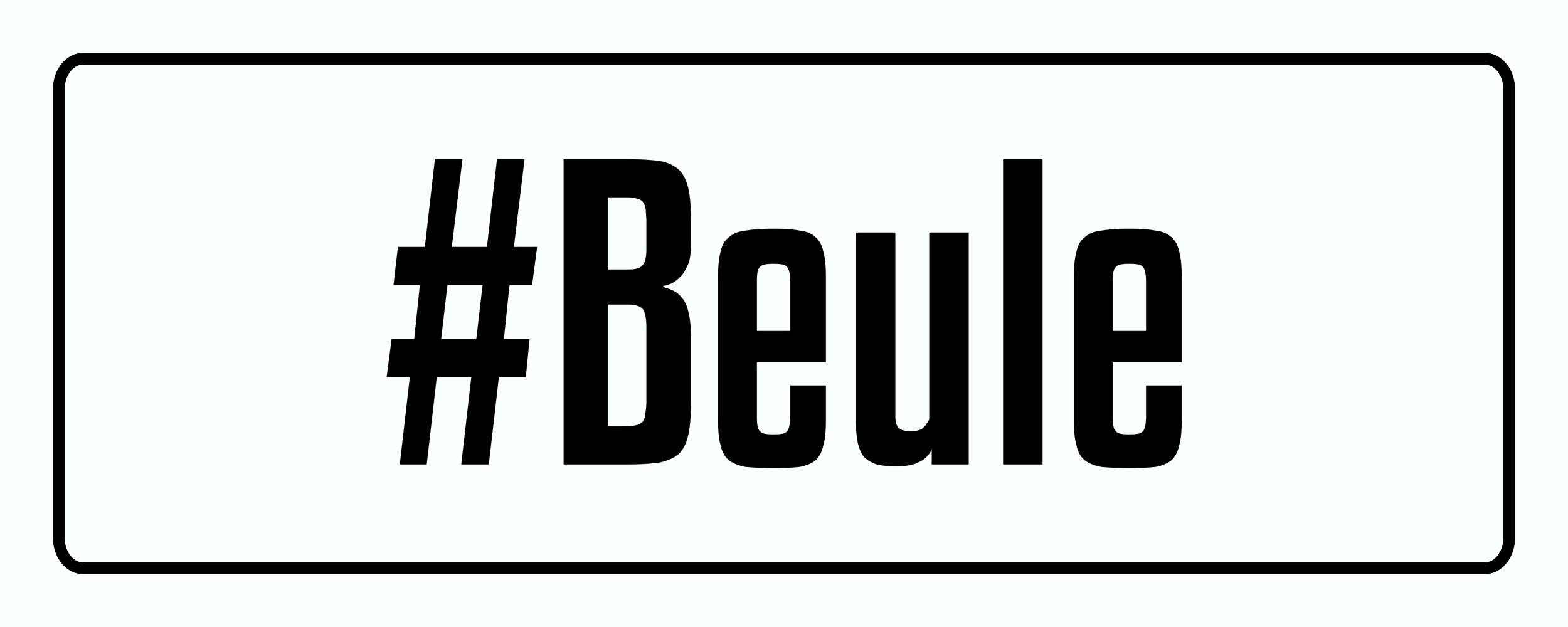 Autocollant #Beule 40 x 110 mm – Bild 1